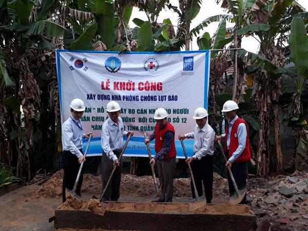 Quảng Nam khởi công Dự án khôi phục và xây dựng nhà ở sau bão Damrey