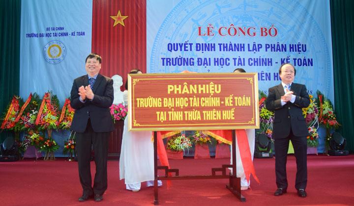Thành lập Phân hiệu trường Đại học Tài chính - Kế toán tại tỉnh Thừa Thiên Huế