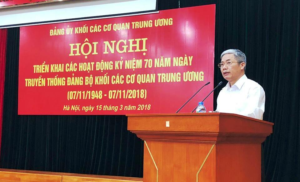 Triển khai các hoạt động chào mừng kỷ niệm 70 năm truyền thống Đảng bộ Khối các cơ quan Trung ương