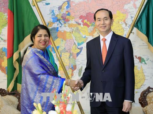Hoạt động tiếp xúc song phương của Chủ tịch nước Trần Đại Quang tại Bangladesh