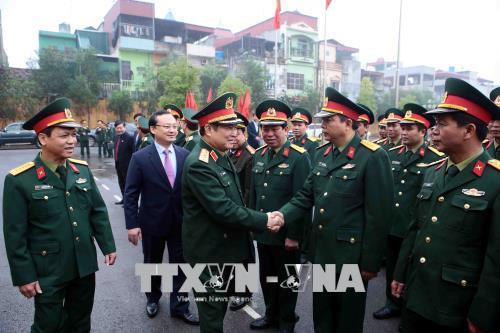Bộ trưởng Bộ Quốc phòng Ngô Xuân Lịch thăm và làm việc tại Hưng Yên
