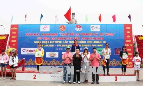Sôi nổi Ngày chạy Olympic Bắc Ninh hưởng ứng Asiad 18