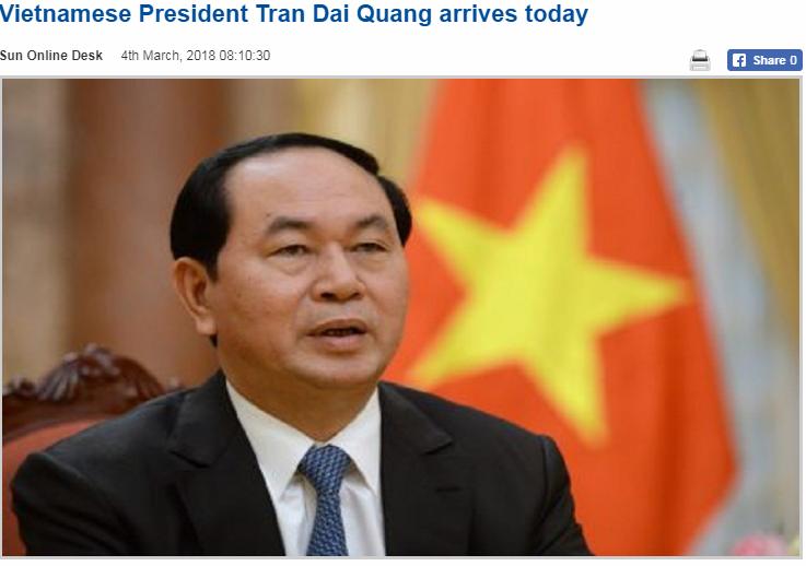 Báo chí Bangladesh đánh giá cao chuyến thăm của Chủ tịch nước Trần Đại Quang