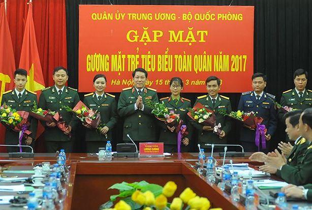 Quân ủy Trung ương, Bộ Quốc phòng gặp các gương mặt trẻ tiêu biểu toàn quân