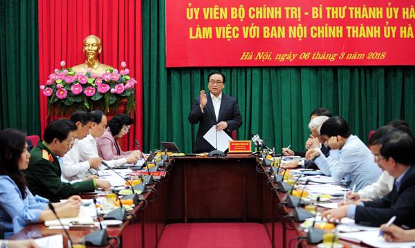Bí thư Thành ủy Hà Nội: Tăng cường đào tạo, bồi dưỡng cán bộ làm công tác nội chính