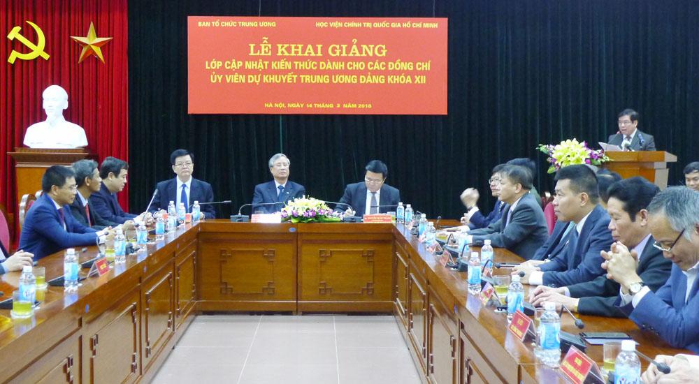 Cập nhật kiến thức cho các đồng chí Ủy viên dự khuyết Trung ương Đảng khóa XII