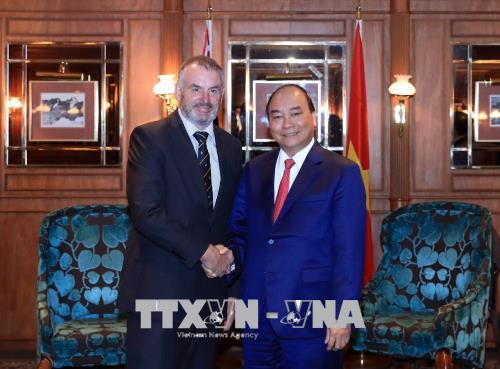 Thủ tướng Nguyễn Xuân Phúc hội kiến với Chủ tịch Quốc hội New Zealand