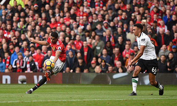 Thắng thuyết phục Liverpool trên sân nhà, M.U giữ vững vị trí nhì bảng