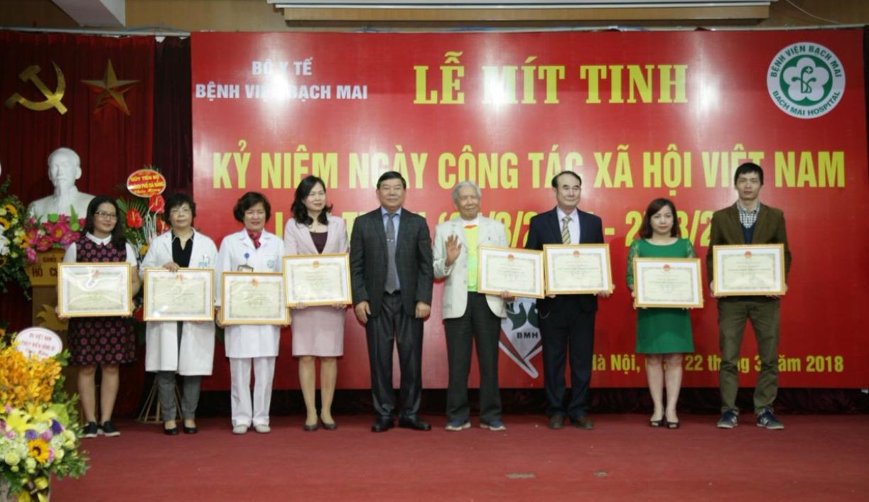 Bệnh viện Bạch Mai kỷ niệm Ngày Công tác xã hội Việt Nam (25/3)