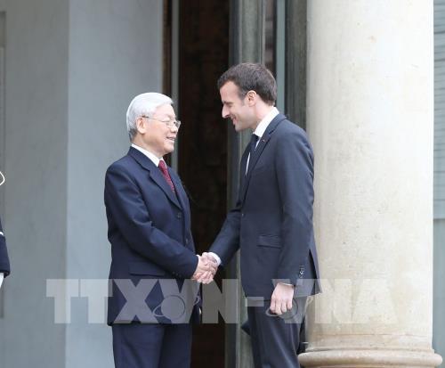 Tổng Bí thư Nguyễn Phú Trọng gửi Điện cảm ơn Tổng thống Pháp Emmanuel Macron