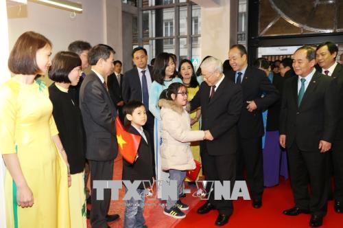 Tổng Bí thư Nguyễn Phú Trọng dự khai trương trụ sở mới Trung tâm văn hóa Việt Nam tại Pháp
