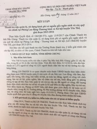 Yên Thế (Bắc Giang): Hậu thanh tra đã được xử lý xong