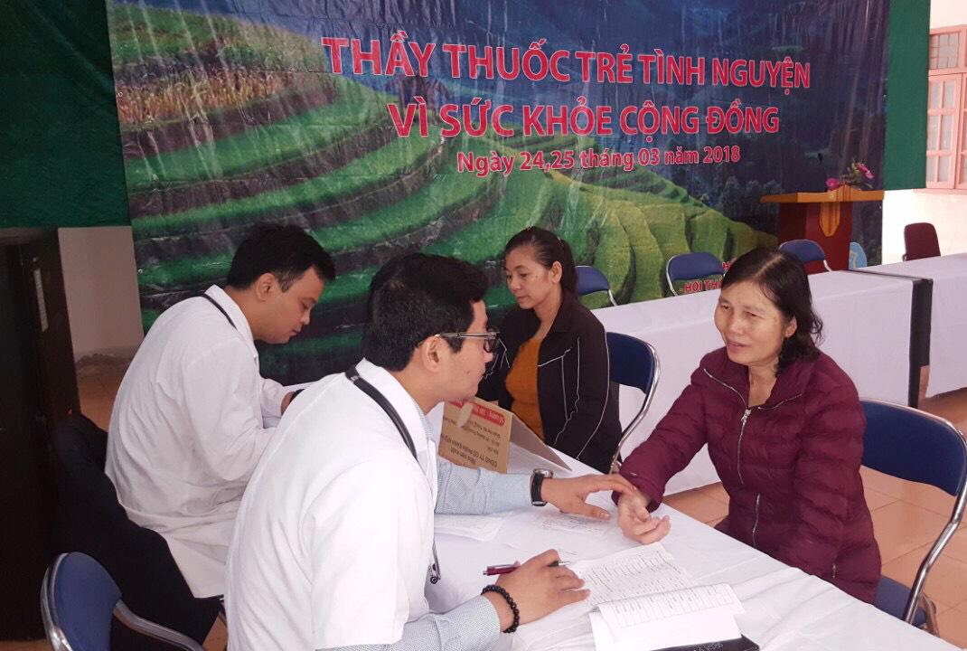 Khám sàng lọc ung thư và cấp phát thuốc miễn phí cho người dân huyện Mường Nhé