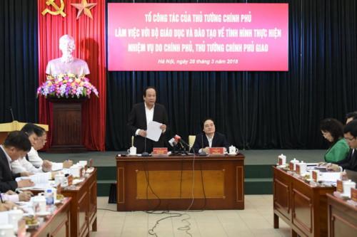 Thủ tướng lưu ý Bộ Giáo dục và Đào tạo 6 vấn đề
