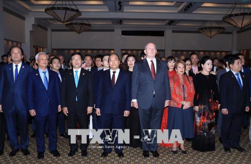 Thủ tướng dự tiệc tiếp tân kỷ niệm 45 năm Ngày thiết lập quan hệ Australia – Việt Nam