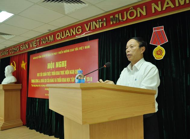 Đảng bộ Tổng công ty Đầu tư phát triển đường cao tốc Việt Nam quán triệt và triển khai Nghị quyết Trung ương 6