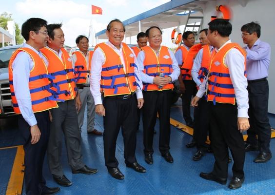 Khánh thành bến phà kết nối TP. Hồ Chí Minh - Long An