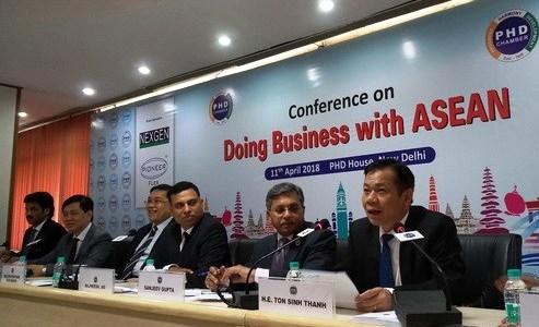 Việt Nam tham dự Hội nghị thúc đẩy hợp tác kinh doanh giữa Ấn Độ và ASEAN