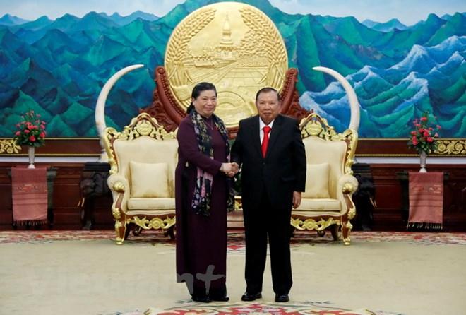 Lãnh đạo Đảng, Chính phủ Lào tiếp Đoàn cấp cao Quốc hội Việt Nam