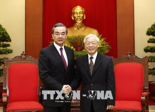 Tổng Bí thư tiếp Ủy viên Quốc vụ, Bộ trưởng Ngoại giao Trung Quốc Vương Nghị