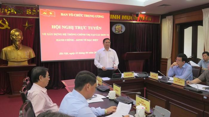 Hội nghị trực tuyến về xây dựng hệ thống chính trị tại các đơn vị hành chính – kinh tế đặc biệt