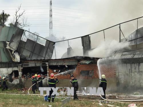 Cháy thiêu rụi kho nguyên liệu của một công ty may tại TP. Hồ Chí Minh