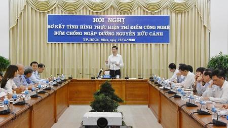 TP.Hồ Chí Minh thí điểm thành công công nghệ bơm chống ngập
