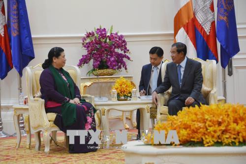 Các lãnh đạo cao cấp của Campuchia đánh giá cao quan hệ hợp tác với Việt Nam