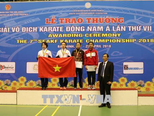Việt Nam giành 29 Huy chương Vàng tại Giải vô địch Karate Đông Nam Á lần thứ VII