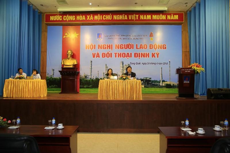 Công ty Lọc hóa dầu Bình Sơn tổ chức hội nghị đối thoại với người lao động