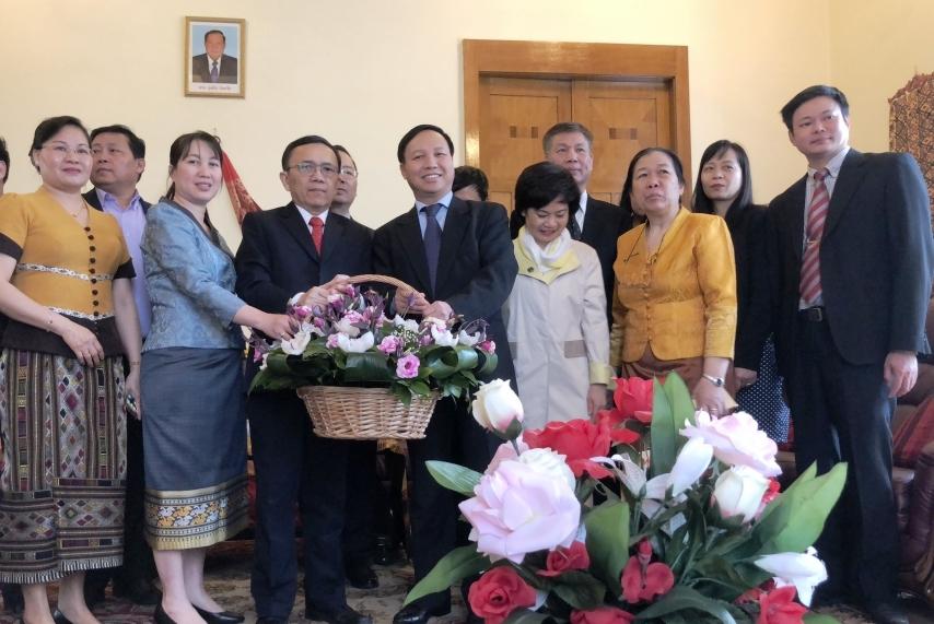 Đại sứ quán Việt Nam tại Liên bang Nga chúc mừng Tết cổ truyền Lào