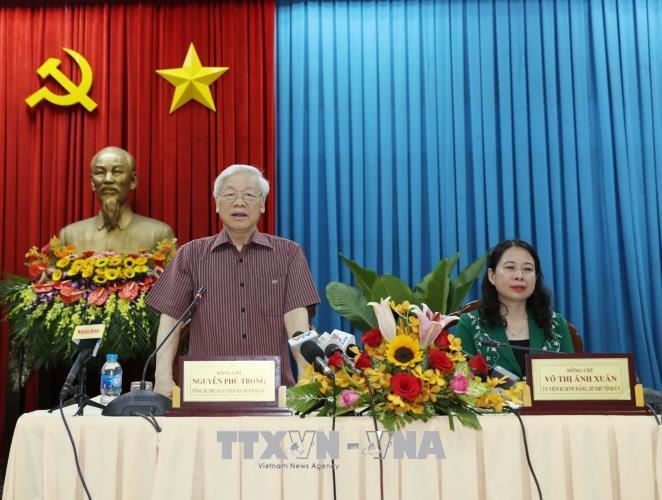 Tổng Bí thư Nguyễn Phú Trọng: An Giang cần chú trọng làm tốt công tác quy hoạch cán bộ cho lâu dài
