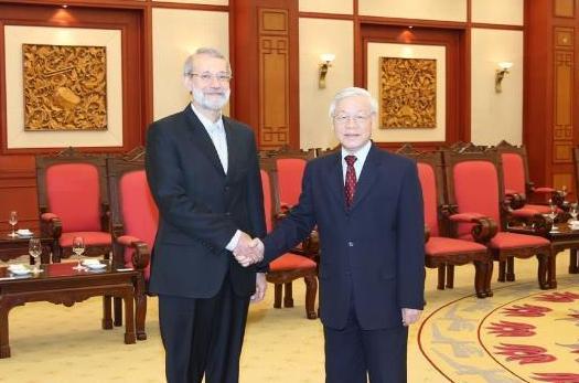 Tổng Bí thư Nguyễn Phú Trọng tiếp Chủ tịch Quốc hội I-ran