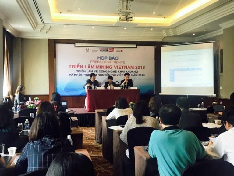 170 doanh nghiệp tham gia Mining Vietnam 2018