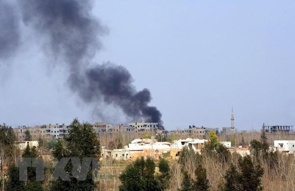 Sân bay quân sự tại miền Trung Syria bị tấn công