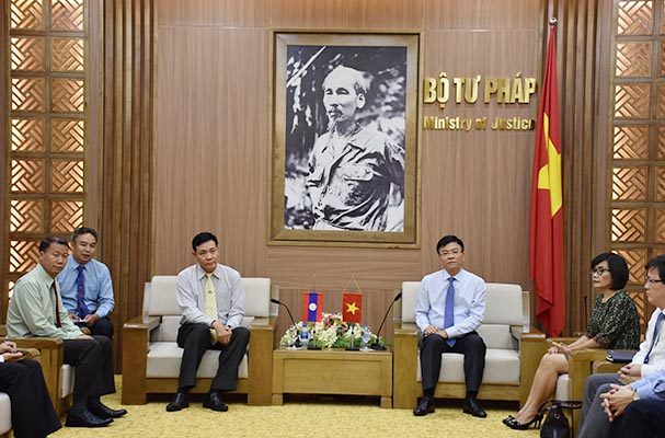 Tăng cường hợp tác tư pháp Việt Nam – Lào