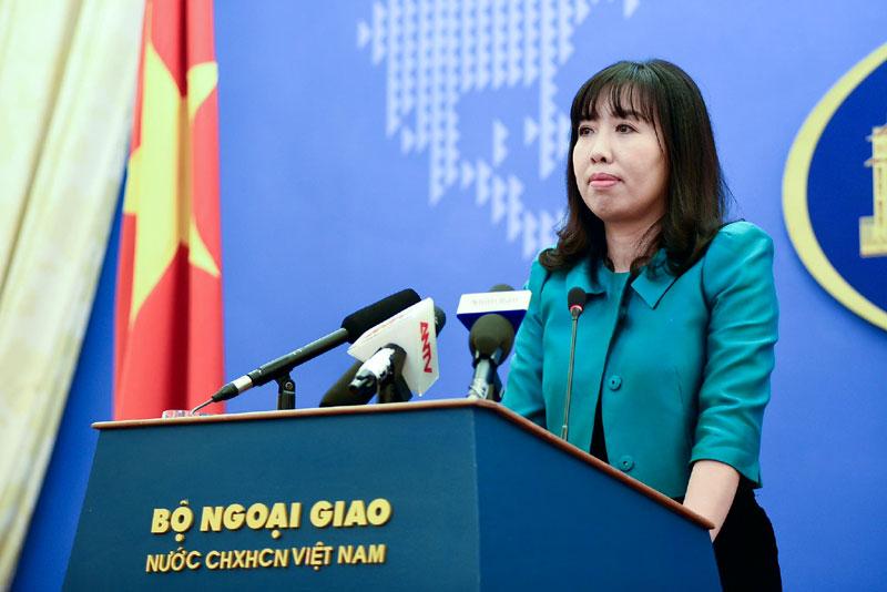 Đề nghị Trung Quốc rút các trang thiết bị quân sự triển khai trái phép trên các cấu trúc thuộc chủ quyền của Việt Nam