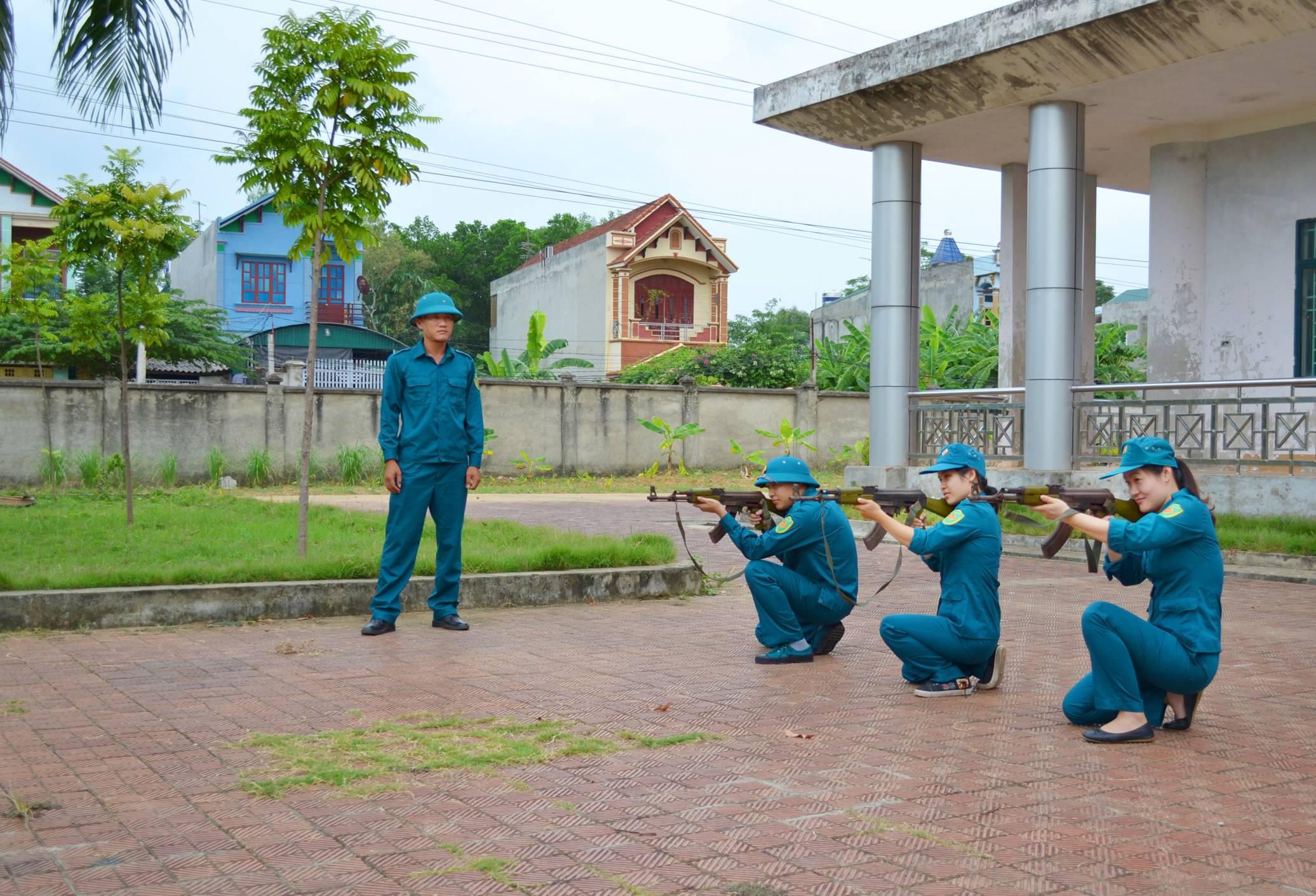 Hưng Yên: Chú trọng nâng cao chất lượng dân quân tự vệ