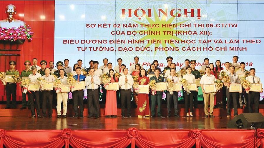 Hải Phòng biểu dương 113 tập thể, cá nhân tiêu biểu trong học và làm theo tư tưởng, đạo đức, phong cách Hồ Chí Minh