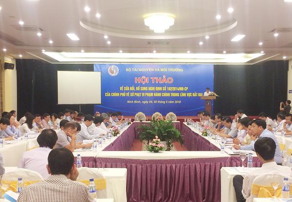 Sửa đổi, bổ sung Nghị định xử phạt vi phạm hành chính trong lĩnh vực đất đai