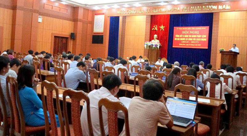 Quảng Nam: Tiếp tục nâng cao chất lượng, hiệu quả công tác chăm sóc người có công