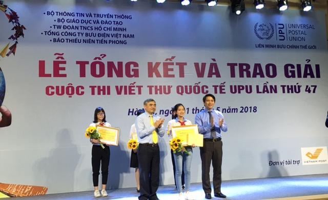 Học sinh Hải Dương giành giải Nhất quốc gia thi viết thư quốc tế UPU lần thứ 47