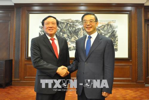 Chánh án Tòa án Nhân dân Tối cao Nguyễn Hòa Bình thăm và làm việc tại Trung Quốc