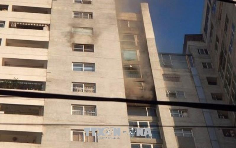 Hà Nội: Cháy lớn tại chung cư CT3 Bắc Hà, Hà Đông