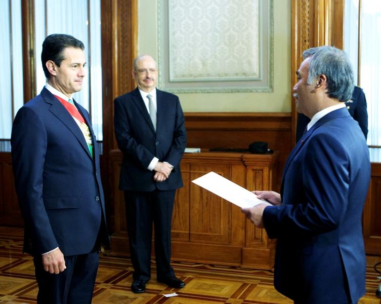 Đại sứ Việt Nam trình Quốc thư lên Tổng thống Mexico