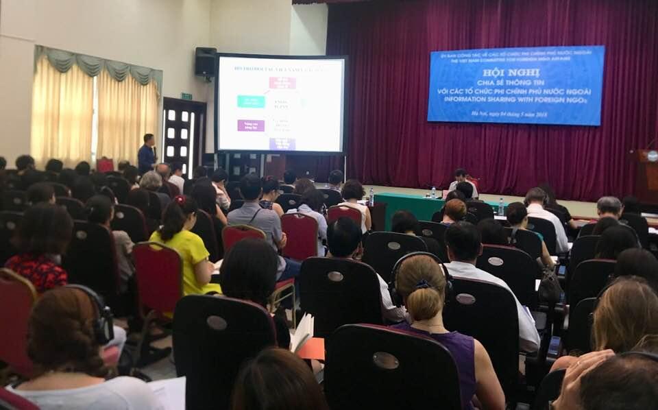 Hội nghị chia sẻ thông tin với các tổ chức phi chính phủ nước ngoài năm 2018
