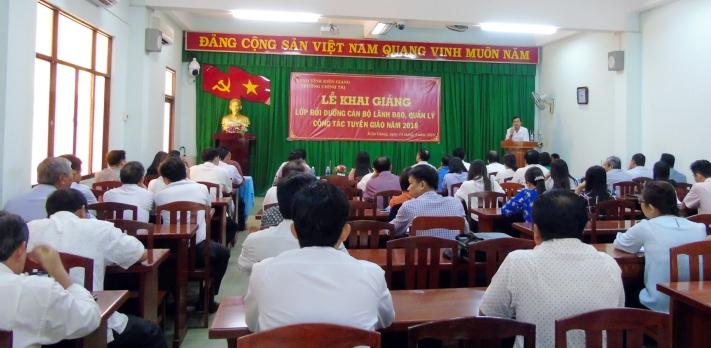 Kiên Giang: Tổ chức lớp bồi dưỡng cán bộ lãnh đạo, quản lý công tác tuyên giáo