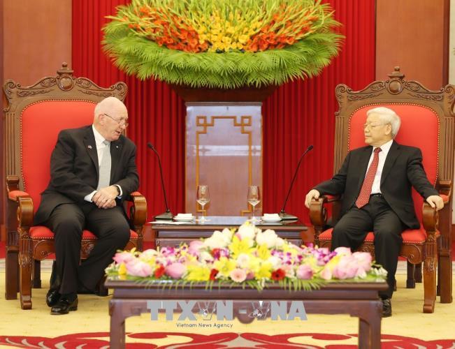 Tổng Bí thư Nguyễn Phú Trọng tiếp Toàn quyền Ô-xtrây-li-a