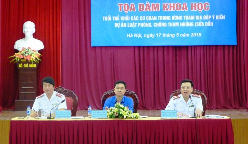 Tuổi trẻ Khối các cơ quan Trung ương tham gia góp ý Dự án Luật Phòng, chống tham nhũng (sửa đổi)