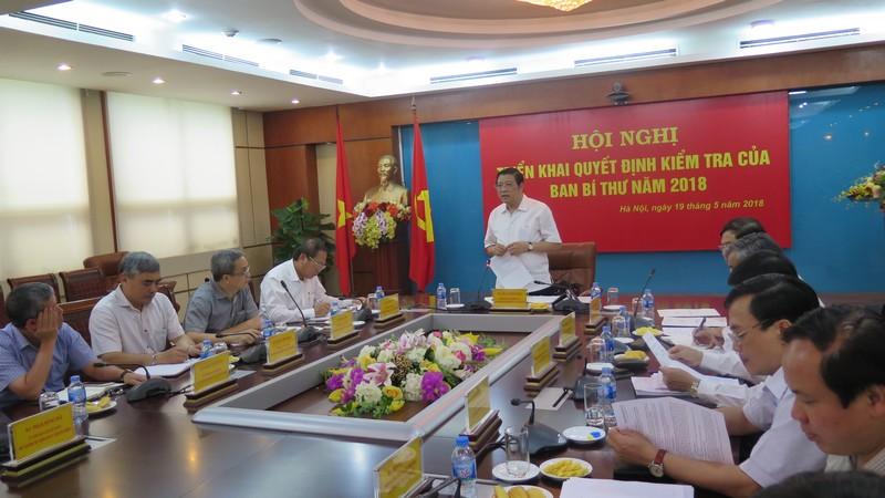 Triển khai quyết định kiểm tra của Ban Bí thư đối với Ban cán sự đảng Bộ Thông tin và Truyền thông